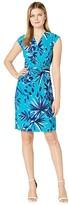 Tommy Bahama Botanical Blitz Dress Short Sleeve (Amalfi Sea) Women's Dress