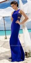 Tarik Ediz Beaded Side Cutout Evening Dress
