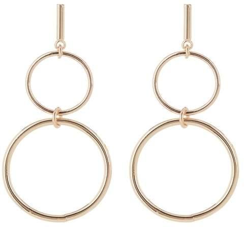9d4950518311a Double Drop Hoop Earrings