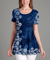 Lily Blue Floral & Paisley Tunic - Plus Too