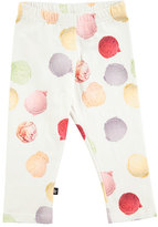 Molo Nelly Stretch Jersey Ice Cream Scoop Leggings, White/Multicolor, Size 3-12