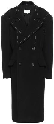 Maison Margiela Double-breasted virgin wool coat
