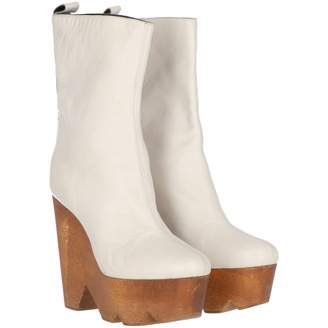 Vionnet \N White Leather Boots