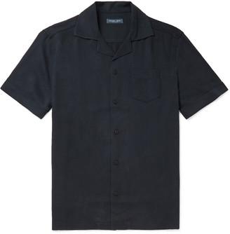 Frescobol Carioca Camp-Collar Tencel Shirt