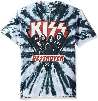 Liquid Blue Unisex-Adult's Kiss Destroyer 1976 Short Sleeve T-Shirt