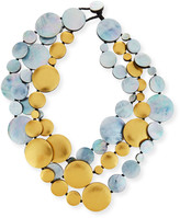 Viktoria Hayman Triple-Strand Two-Tone Disc Necklace