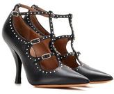 Givenchy Elegant Embellished Leather Pumps