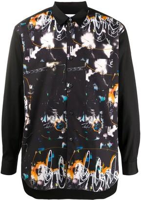 Comme des Garçons Shirt Abstract Print Button-Down Shirt