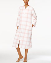 Miss Elaine Plush Zip-Front Long Robe