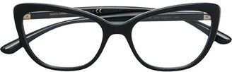 Cat Eye Cat-Eye Metal Embellished Glasses