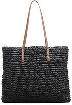 Kenneth Cole Straw Tote Bag