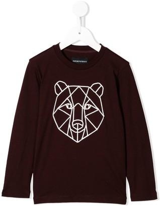Emporio Armani Kids Geometric Bear Motif Sweatshirt
