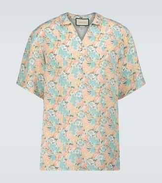 Gucci Liberty floral silk shirt