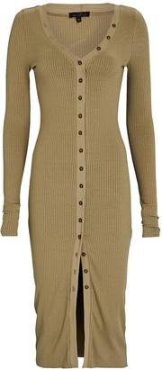 The Range Rib Knit V-Neck Midi Dress
