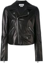 Loewe flap pocket biker jacket - women - Cotton/Lamb Skin - 36