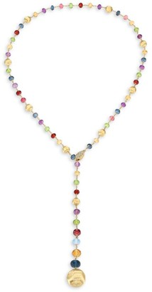 Marco Bicego Africa 18K Yellow Gold & Mixed Gemstone Lariat Necklace