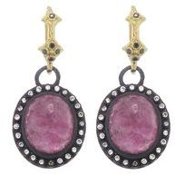 Armenta Oval Midnight Ruby Earrings with Diamonds