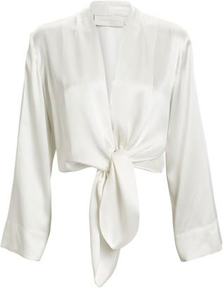 Mason by Michelle Mason Silk Kimono Sleeve Blouse