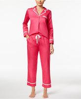 Kate Spade Ribbon-Trimmed Cotton Sateen Pajama Set