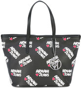 Armani Jeans logo print shoulder bag - women - Polyurethane - One Size