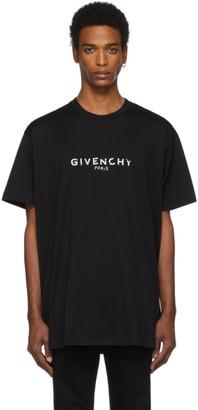 Givenchy Black Oversized Paris Vintage T-Shirt