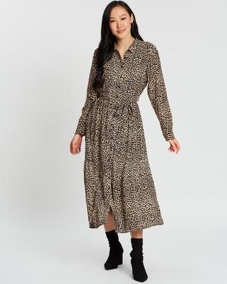 Dorothy Perkins Leopard Tiered Shirt-Dress