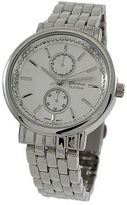 Geneva Platinum Womens Silver Tone Bracelet Watch-1534