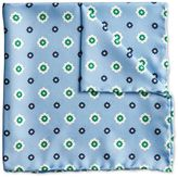 Charles Tyrwhitt Sky printed floral classic pocket square