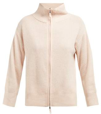 Allude Zip Up Cashmere Cardigan - Womens - Cream