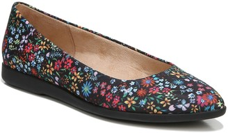 Comfortable Loafer Black Casual Round Toe Ballet Flats Shoes CINAK Floral Embroidered Shoes for Women