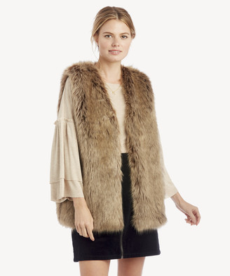 Sole Society Women's Faux Fur Vest Black One Size Acrylic Polyester From