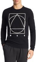 McQ Knitted Graphic Sweater
