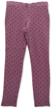 Style&Co. Style & Co Dot-Print Ponte-Knit Pants, Created for Macy's