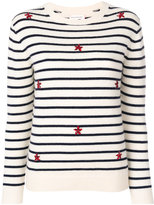 Chinti and Parker embroidered stripe sweater