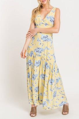 Lush Plunge Floral Maxi Dress