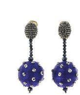 Oscar de la Renta Polka Dot Sequin Clip-On Earrings