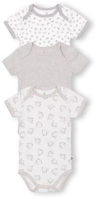 Gertex Dream Short Sleeve Bodysuit 3 Pack - Grey - 6 Months