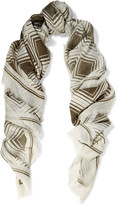Anya Hindmarch Printed modal and cashmere-blend scarf