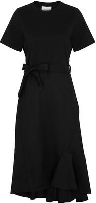 3.1 Phillip Lim Black Asymmetric Wool Dress