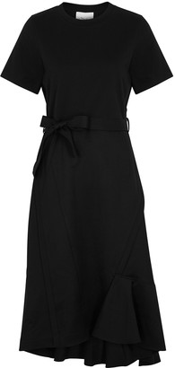3.1 Phillip Lim Black asymmetric wool dress