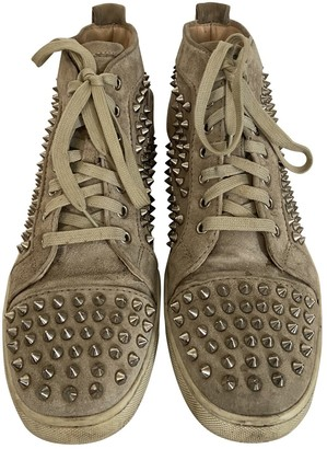 Christian Louboutin Louis Beige Leather Trainers