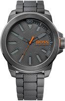 BOSS ORANGE Men's Gray Silicone Strap Watch 50mm 1513005