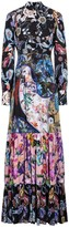Renaissance Paisley Floral-Print Gown