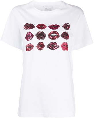 Escada Sport sequin lip print T-shirt
