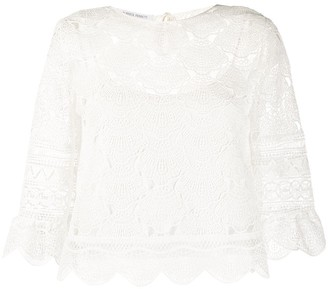 Alberta Ferretti Lace Top
