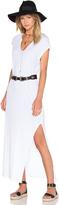 LnA Cap Sleeve V Neck Maxi Dress
