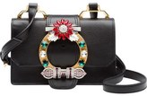 Miu Miu Jewel Buckle Calfskin Leather Shoulder Bag