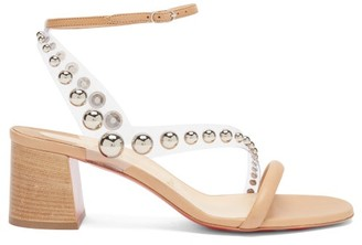 Christian Louboutin Corinne 55 Pvc-strap Leather Sandals - Beige