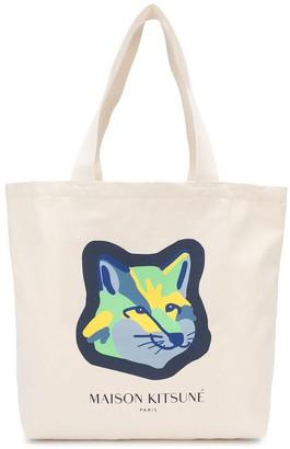 MAISON KITSUNÉ Fox Head-Print Tote Bag