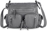 UTO Women Handbag PU Washed Leather Purse Hobo Style Multi Pockets Shoulder Bag